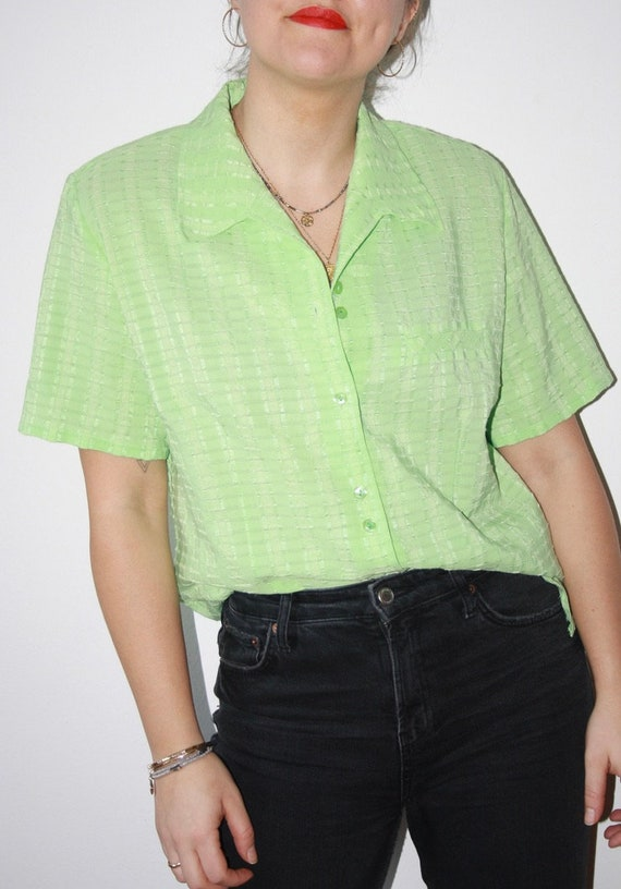 1980's Pastel Green Oversized Shirt