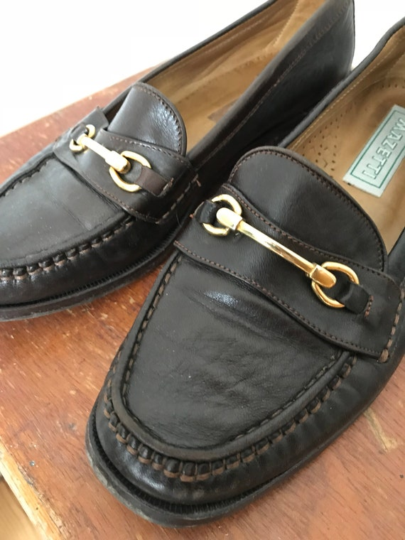 Italian Vintage Leather Loafers / Mazetti
