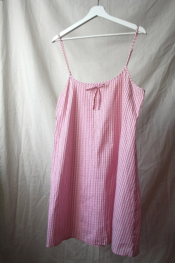 Candy Striped Slip Dress