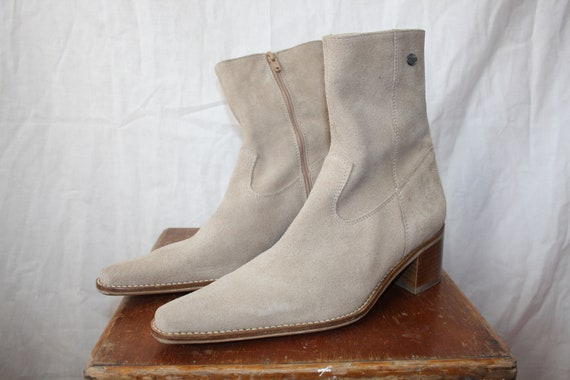 1990's Vintage Dockers Suede Boots / Pointed Boots
