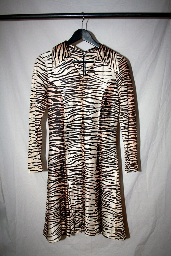 Vintage Animal Print Cocktail Dress
