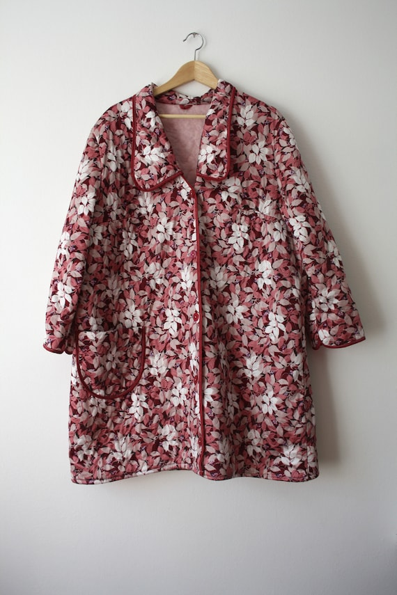 Quilted Vintage Floral Robe/Kimono