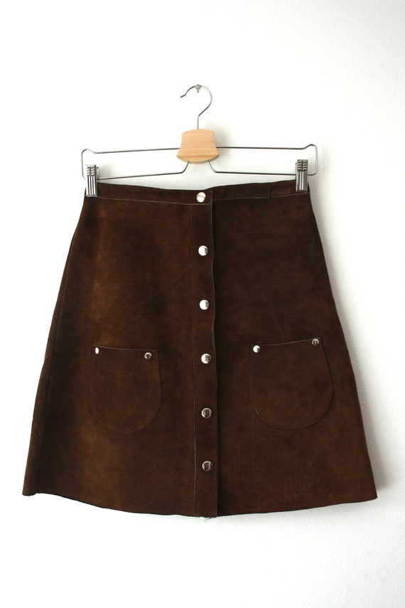 1970's Suede Skirt