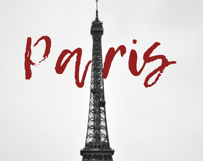 Featured listing image: Cliché of Paris, the Eiffel Tower, France, to print yourself for a postcard, a poster, a canvas or any other decorative idea
