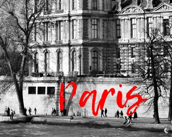 Cliché of Paris, the Louvre Museum, France, to print yourself for a postcard, a poster, a canvas or any other decorative idea