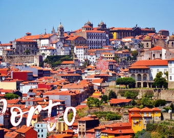 Cliché of Porto, aerial view, Portugal, to print yourself for a postcard, a poster, a canvas or any other decorative idea