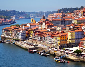 Lot of 3 photos of the city of Porto (Portugal) to print yourself for a decoration
