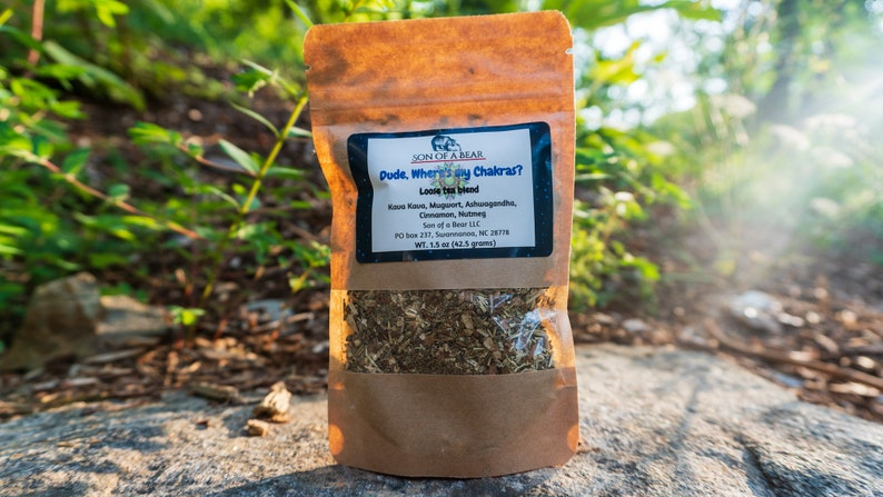 Kava Kava, Mugwort, Ashwagandha Organic Loose leaf herbal tea blend   Meditation, Lucid dreaming, Astral Projection, Psychic, Chakras, Witch
