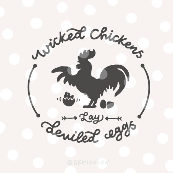 Farm Svg Cutting File Hand Lettered Wicked Chickens Lay Etsy