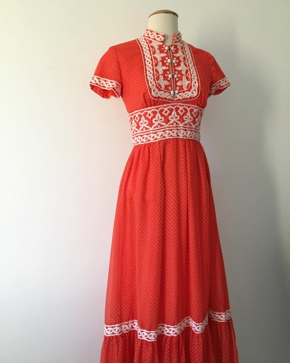 1960s prairie dress Emma domb vintage 60s