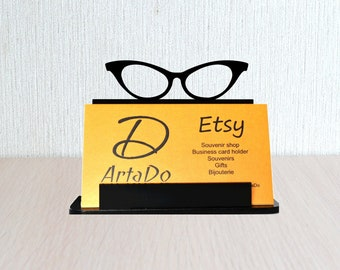 A Business Card Holder Womens Glasses Funny Gift Woman Boss Day An Office Decor