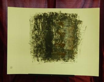 Vintage Original Adnan Charara Mixed Media Painting''One of a Kind/signed/1989