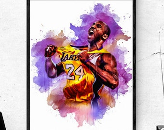 picture relating to Lakers Printable Schedule known as Nba printable Etsy