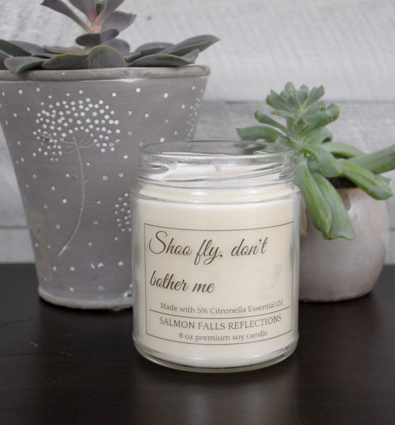 Vegan Citronella Essential Oil Candle All Natural Insect Etsy