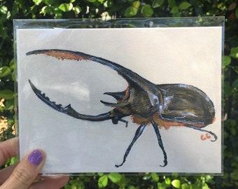 Hercules Beetle Print