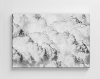 Thunder Clouds Storm Pattern Photo Large Canvas Nature Art Print Stylish Home Decoration Wall Art Nursery Decor Living Room | IC183