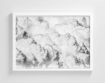 White Storm Thunder Clouds Frameless Photo Poster Nature Art Print Stylish Home Decoration Wall Art Nursery Decor Living Room | IC183
