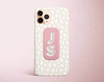 floral phone grip Monogram tie dye phone grip phone grip personalized gift personalized marble phone grip Custom Phone Grip