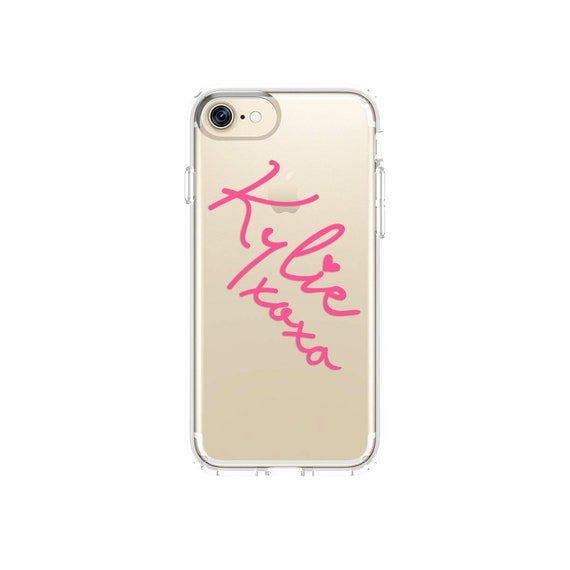 check out 99da3 055a7 Personalised Name iPhone Case Handwritten Custom Clear iPhone X XS Xr Max 8  Plus 7 6 6S Samsung Galaxy S8 S9 Kylie Jenner Script Customised