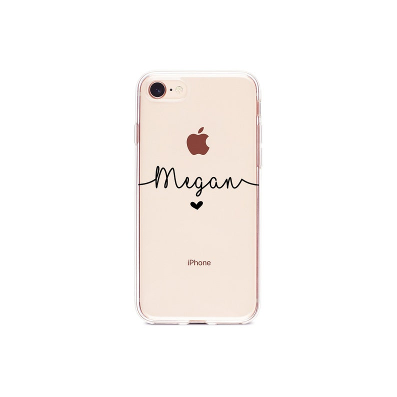 clear personalised iphone 8 case