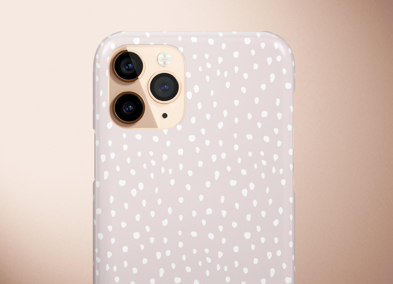 Nude White Dots iPhone Case, Irregular Polka Dots Phone Case, Animal  Cheetah Print, Girly Taupe, Samsung Galaxy Case, Google Pixel Case