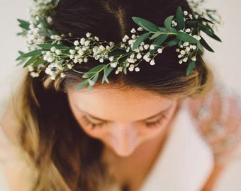 Fresh Baby's Breath Crown