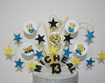 Amazing Minions Cake Topper Etsy Personalised Birthday Cards Cominlily Jamesorg