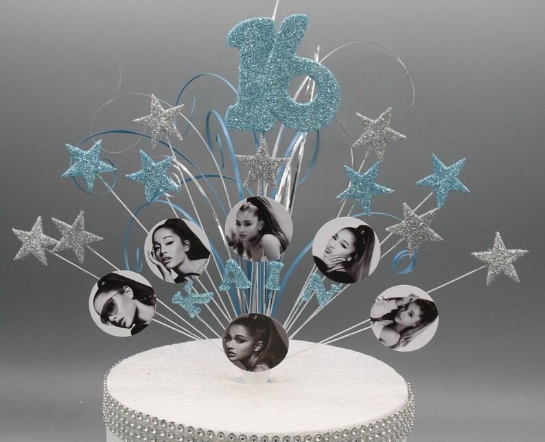 Ariana Grande Cake Topper Spray Cake Decoration Birthday ...