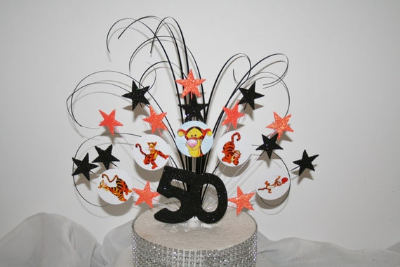 Tigger Glittered Cake Topper Spray Decoration Birthday