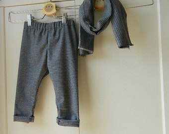 Complete baby in fresh wool, sciarpetta trousers Set, child coordinated for party, complete for ceremony, elegant child coordinated