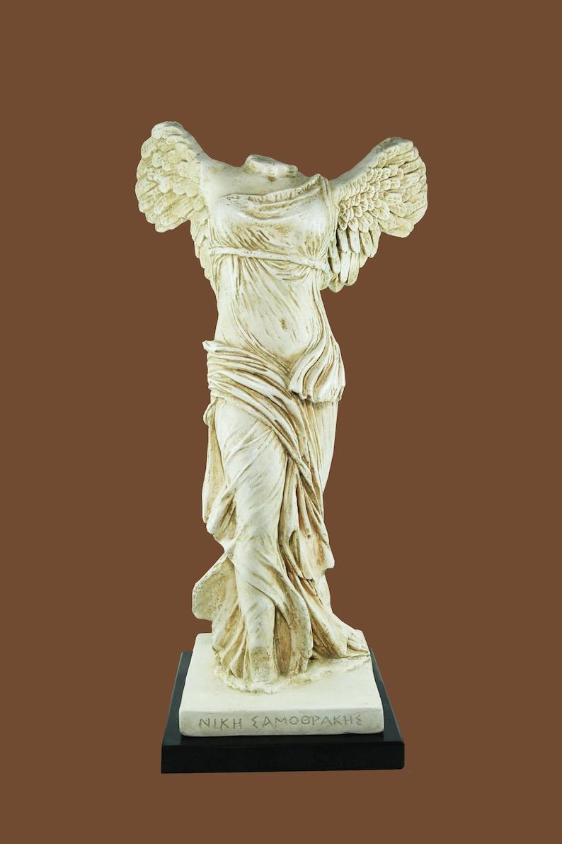 Nike of Samothrace Greek Goddess Statue of Winged Victory image 0