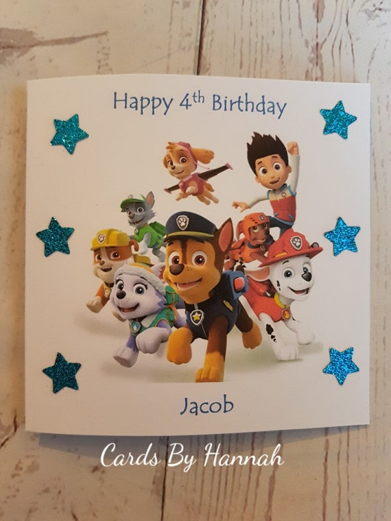 Personalised Character Cartoon Birthday Card Unofficial Paw