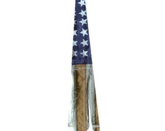 Distressed American Flag - Patriotic Sublimated Ties