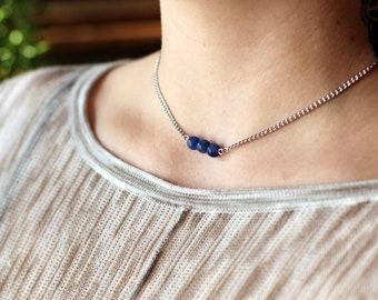Blue Agate Choker
