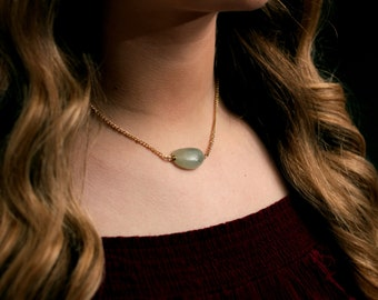Jade with Gold Necklace