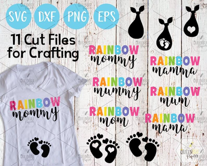 Pregnancy SVG Cut File Mom SVG Bundle Baby Announcement image 0