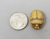 Hand Carved Egyptian Scarab Bead