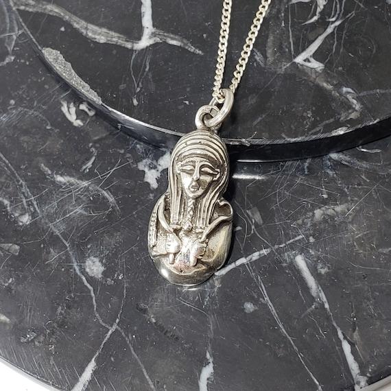 Pharaonic Silver Pendant Nefertiti,King TUT Hallmark Egyptian /& Cleopatra