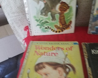 Lot of 5 vintage Little Golden childrens books