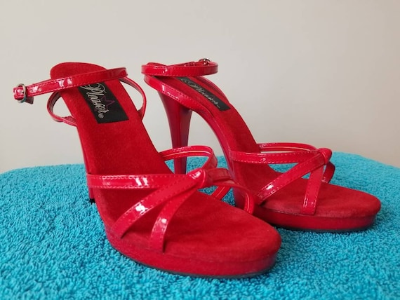High Heels Red Shoes size 8 | Etsy