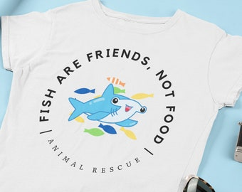 Disney Subtle Finding Nemo - Fish Are Friends Not Food Animal Rescue Bruce Shirt - Great as a Gift for Disney Fans