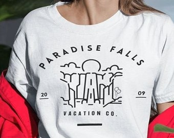 Disney Up Inspired Paradise Falls Vacation Co. Soft Unisex T-Shirt - Great For Those Look For Unique and Subtle Disney Clothing And Gifts