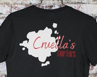 Disney 101 Dalmatian Inspired Cruella's Fine Furs Playful / Subtle Disney Shirt - Great Disney Gift for Disney Bounding