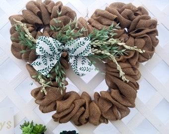 Disney Spring Burlap Wreath - Burlap, Green, and White