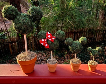 Disney Topiary - Mickey Mouse &Minnie Mouse Topiaries for Adding Magic to Your Home, Wedding, Mad Tea Party, or as Gifts for Mom or Friends