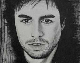 realistic drawing Enrique Iglesias