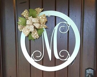 monogram door hanger monogram door wreath initial door hanger wooden monogram wooden letters wall hanging wedding gift housewarming