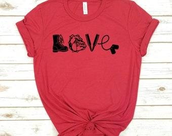 f7680f6b Marine Love T-Shirt; Marine Mom; Marine Wife; Marine Girlfriend; Love My  Marine Graphic; Love My Marine