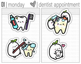 Sprouties | Dental Stickers | Dentist Stickers | Teeth Cleaning Stickers | Doctor Appointment | Planner Stickers | Sticker Sheet | [S0035]