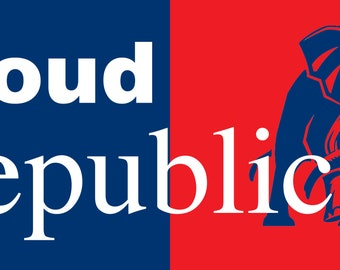 Proud Republican Bumper Sticker